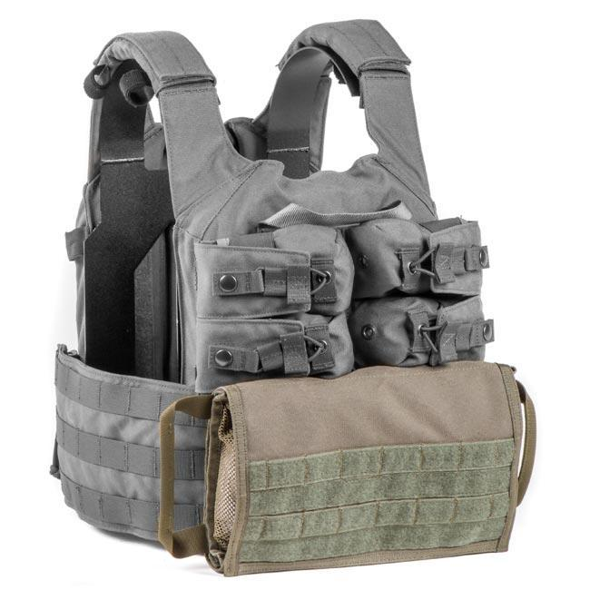 HRT Zip On Side Pull Medical Pouch-Plate Carrier Accessories-HRT Tactical Gear-Ranger Green-Utiletē