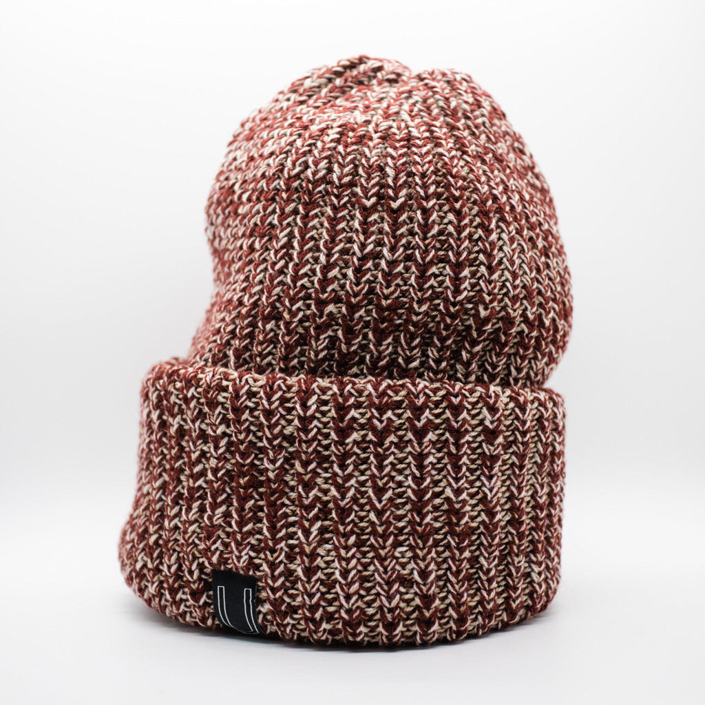 The Chunky Knit Beanie, Heather Burgundy-Hats-Utiletē-Utiletē