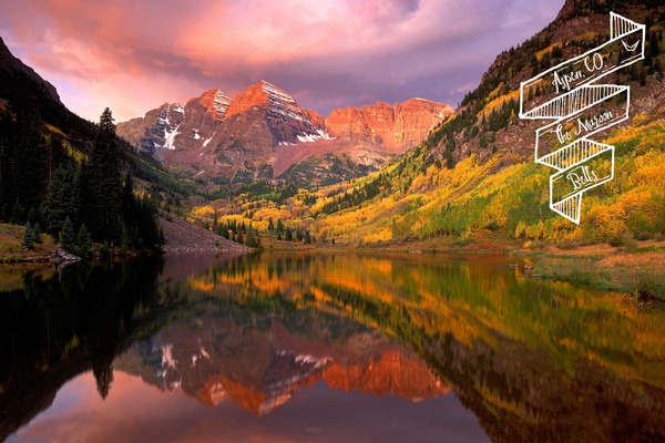 The Maroon Bells in Aspen