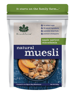 Natural Macadamia Muesli w/apple & apricot 500g
