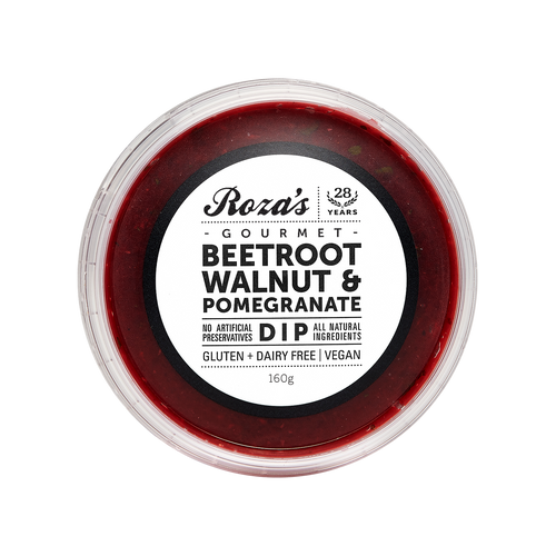 Roza's Beetroot, Walnut & Pomegranate Dip 160g (GF) (V)