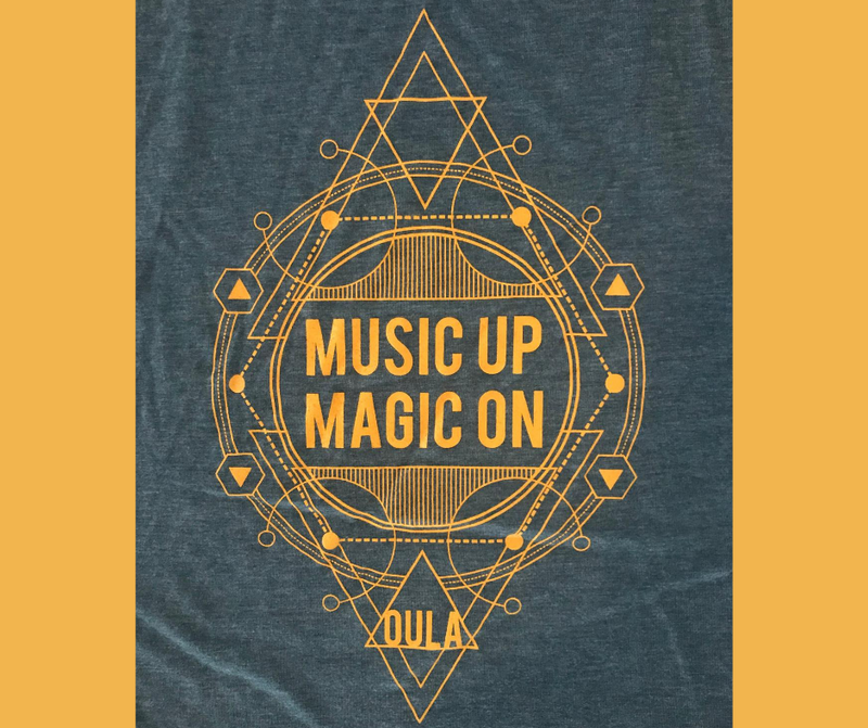 Music Up Magic On! Flowy Scoop Muscle Tank