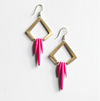 colorful quill earrings
