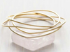 Gold Wave Bangle Set