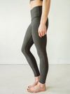 Grey Microstripe Yoga Pants