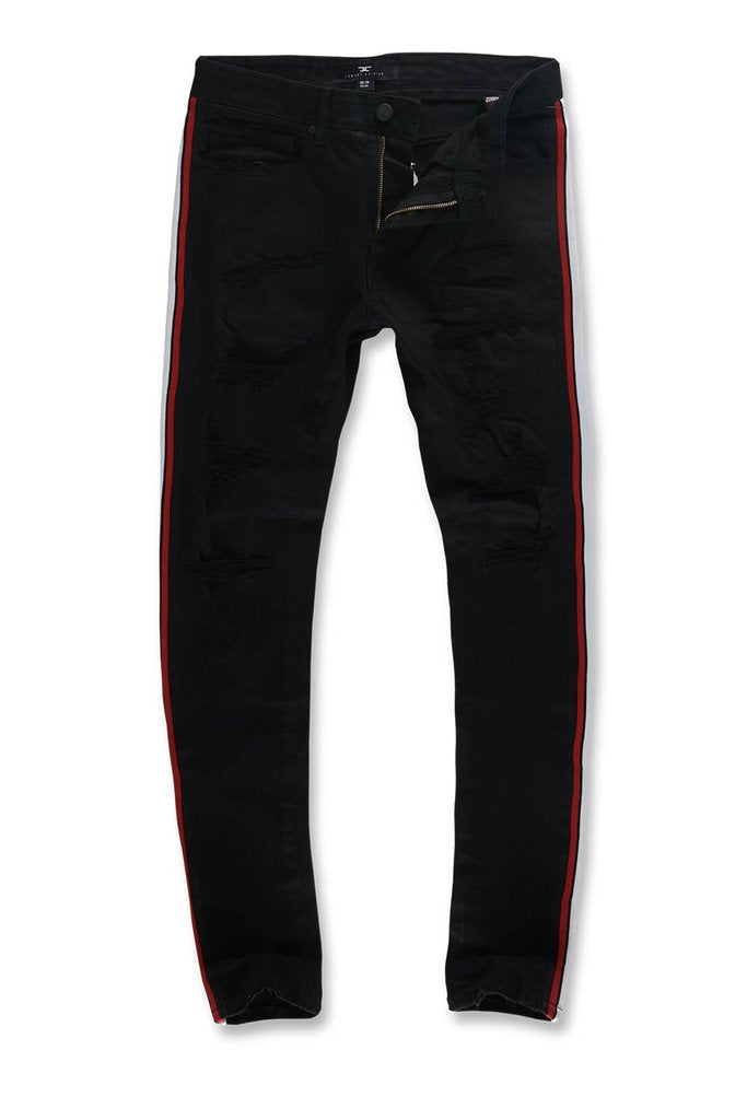 SEAN - GRAND PRIX STRIPED DENIM (JET BLACK)