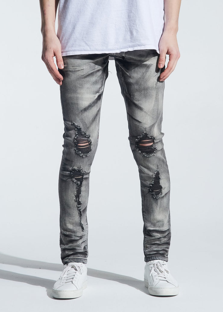 HAYES STANDARD DENIM (DISTRESSED GREY WASH)