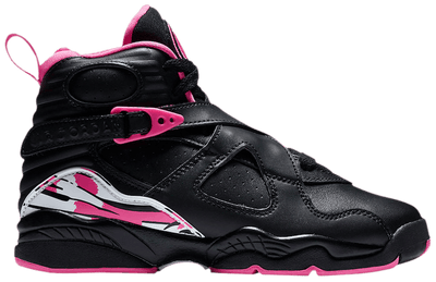 "Jordan 8 Retro ""Black/Pinksicle"" Grade School Kid's Shoe"