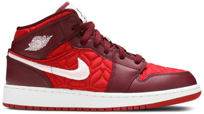Air Jordan 1 Mid SE 'Red Quilted' (GS)