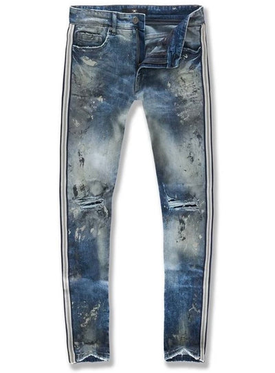 JORDAN CRAIG JEANS - STRIPE AND PAINT - LONDON BLUE