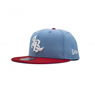 LEE BARON X NEW ERA 9FIFTY 'LB' LOGO SNAPBACK - BABY BLUE/RED/WHITE