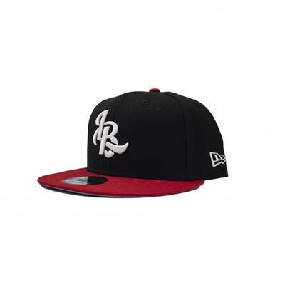 LEE BARON X NEW ERA 9FIFTY 'LB' LOGO SNAPBACK - BLACK/RED