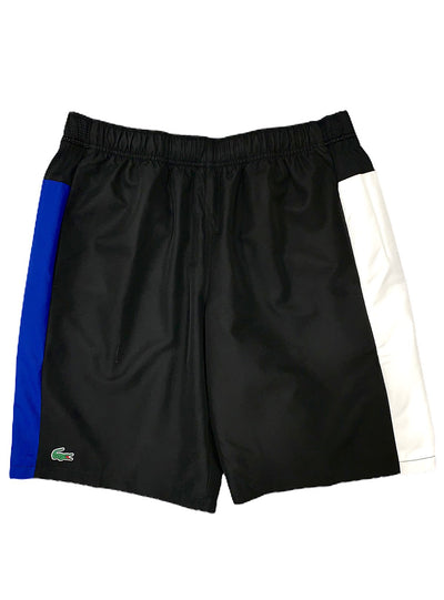 LACOSTE SHORTS - SPORT CONTRAST BAND - BLACK/BLUE