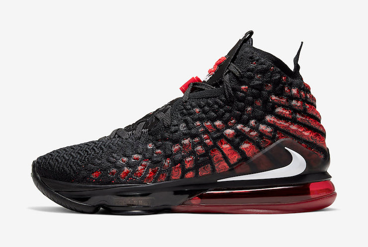 "Nike LeBron 17 ""Black/White/Red"" Men's Basketball Shoe"