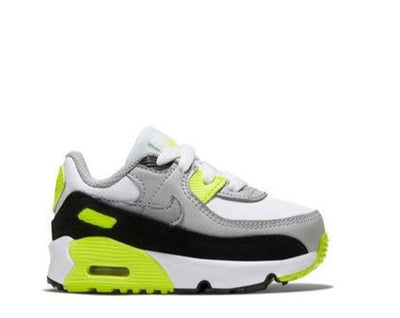"Nike Air Max 90 LTR ""White/Particle Grey/Volt"" Toddler Kids' Shoe"