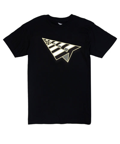 Flag Tee (Blk-Gold)