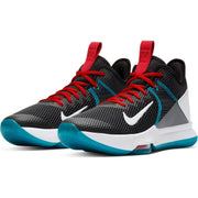 "LeBron Witness 4 ""Black/White/Chile Red/Glass Blue"" Men's Basketball Shoe"