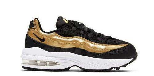 "Nike Air Max 95 ""Black/Gold"" Preschool Kids' Shoe"