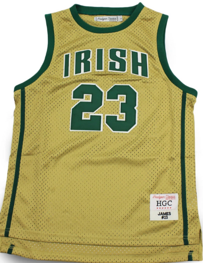 Lebron James Fighting Irish High School Youth Basketball Jersey