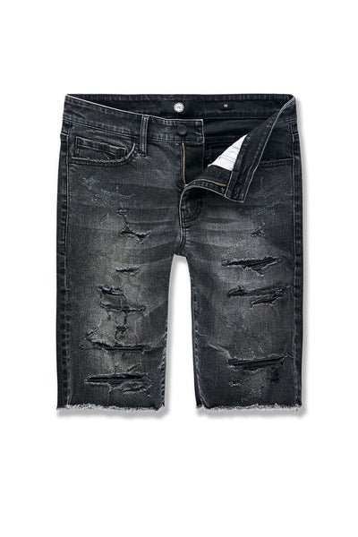 ABYSS DENIM SHORTS (BLACK SHADOW)