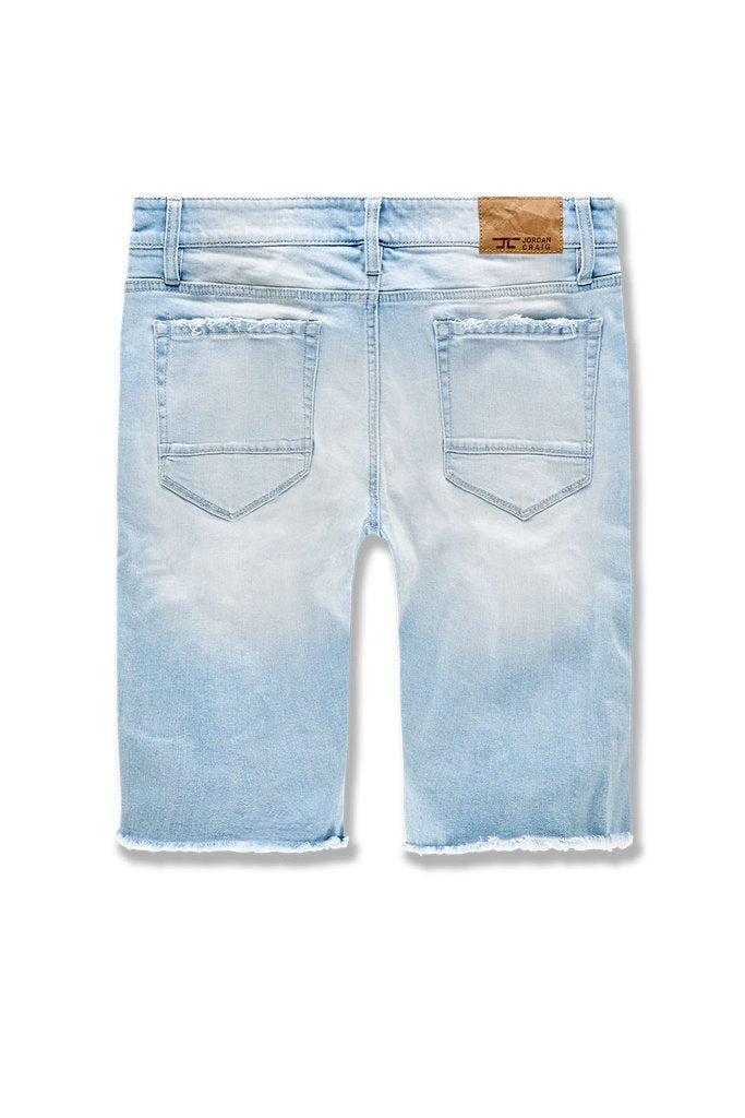ABYSS DENIM SHORTS (ICE BLUE)