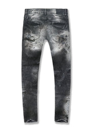 Sean - Sugar Hill Striped Denim (Triple Black)