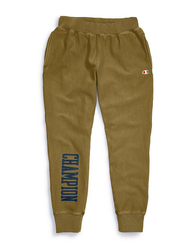 Champion Life Men's Vintage Wash Reverse Weave Joggers, Satin Block Logo