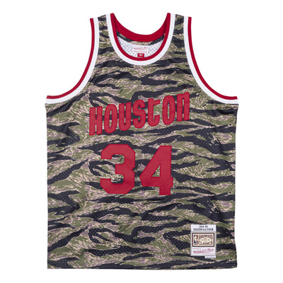 Tiger Camo Swingman Hakeem Olajuwon Houston Rockets 1993-94 Jersey