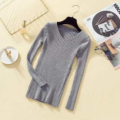 Pullover Knit Sweater Women Winter