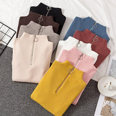 Autumn Winter Women Knitted Sweaters