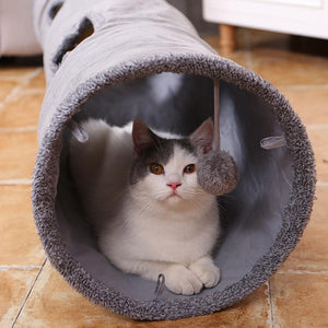 Big Long Cats Tunnel Toys with Play Ball