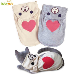Cute Cat Clothes Fashion Spring Cat Coat Hoodie