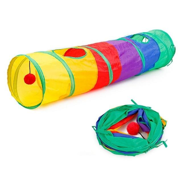 8 Color Funny Pet Tunnel Cat Play