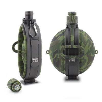 Collapsible Water Bottle With Compass