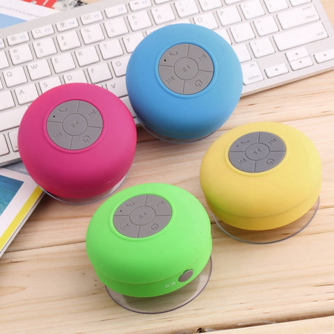 Mini Bluetooth Button Speaker With Suction Cup