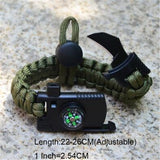 Multifunctional Braided Rope Bracelet - With Knife & Whistle