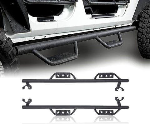 4 Door Side Steps Running Boards(07-18 Jeep Wrangler JK)