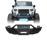 Blade Stubby Front Bumper w/ 60W Work Light Bar & Different Trail Rear Bumper w/Tire Carrier Combo(07-18 Jeep Wrangler JK)