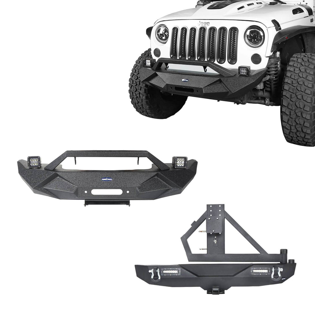 Blade Stubby Front Bumper & Different Trail Rear Bumper Combo(07-18 Jeep Wrangler JK)