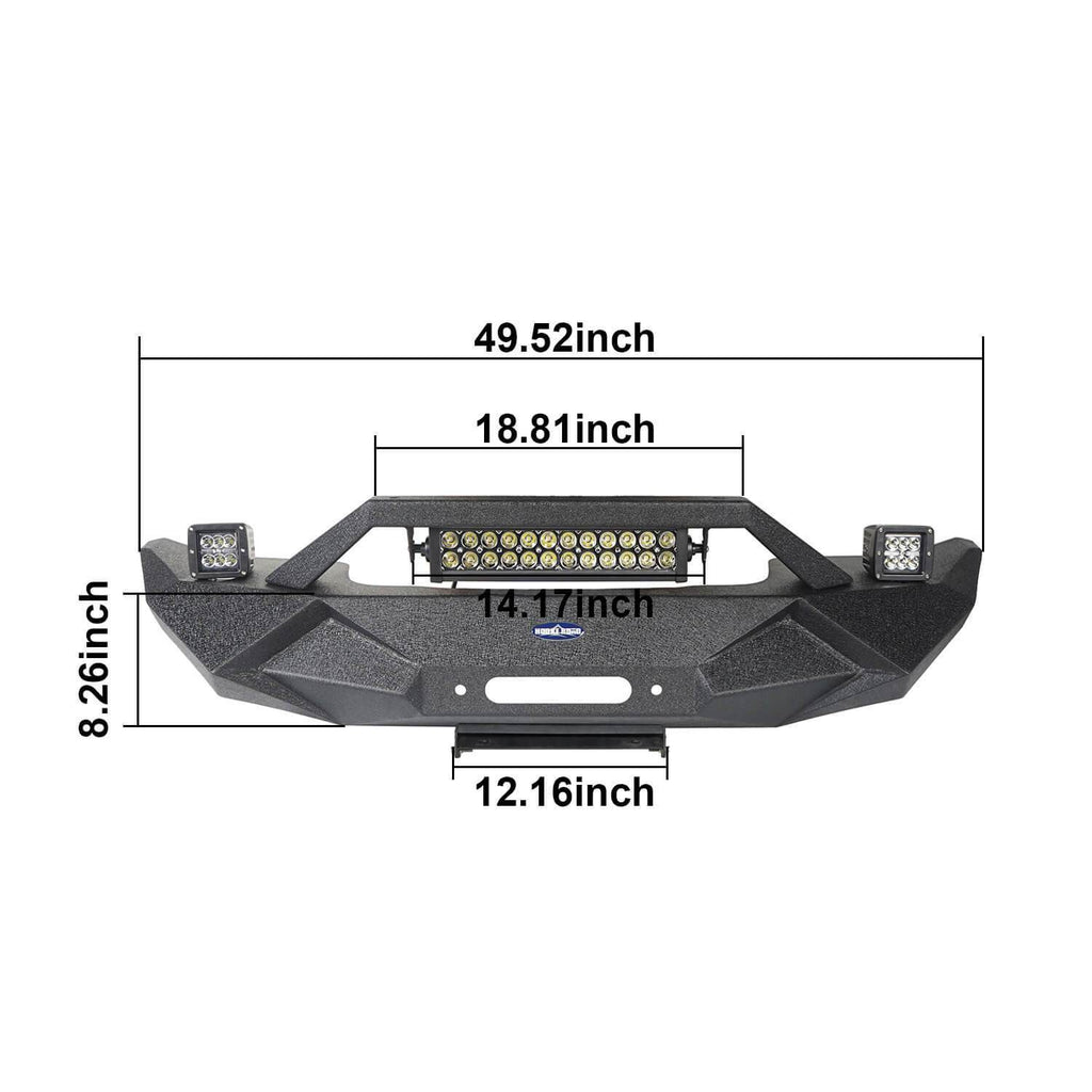 Blade Master Front Bumper w/Winch Plate & Light Bar(07-18 Jeep Wrangler JK)