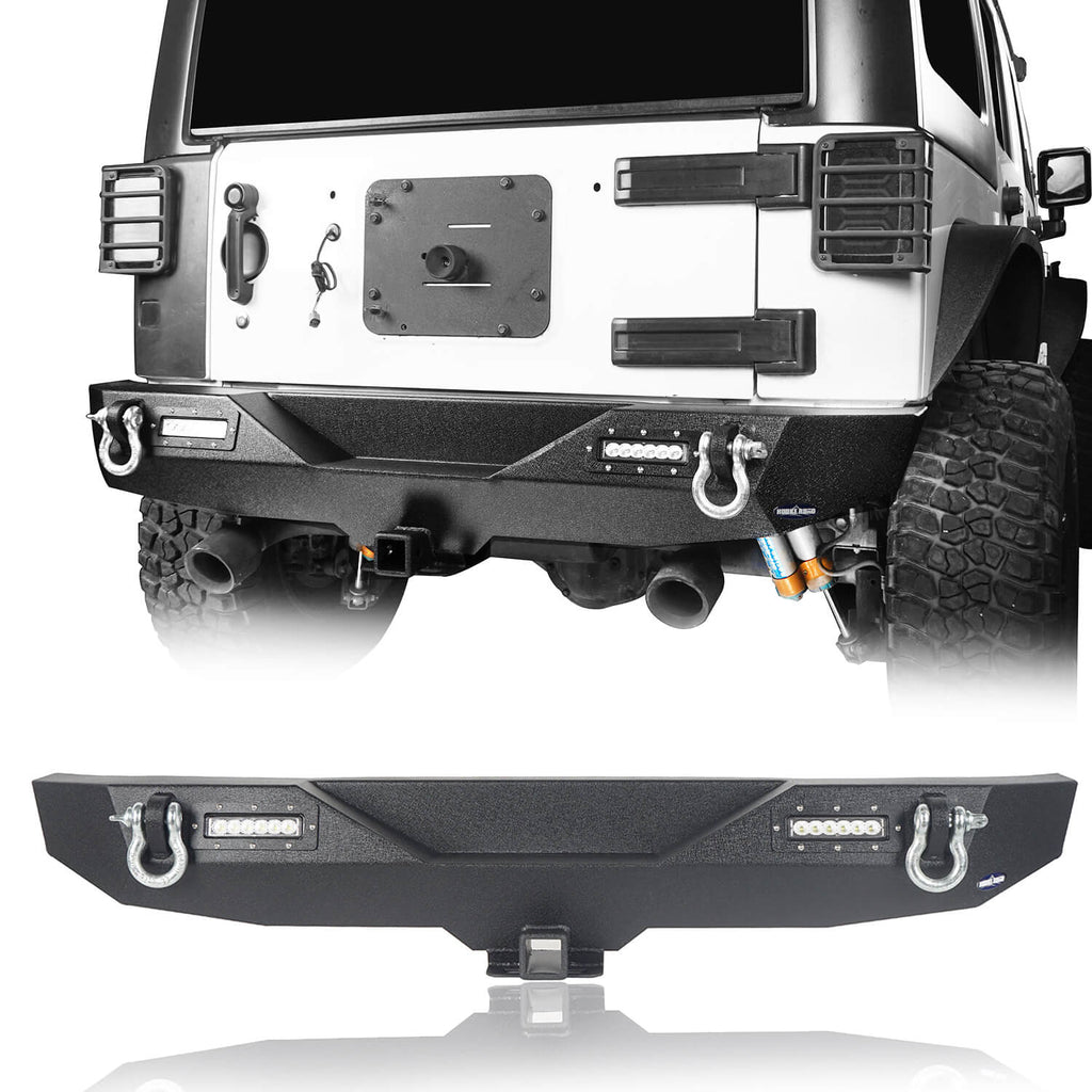 Opar Climber Front Bumper & Different Trail Rear Bumper Combo Kit for Jeep Wrangler JK JKU 2007-2018 u-Box Offroad 7