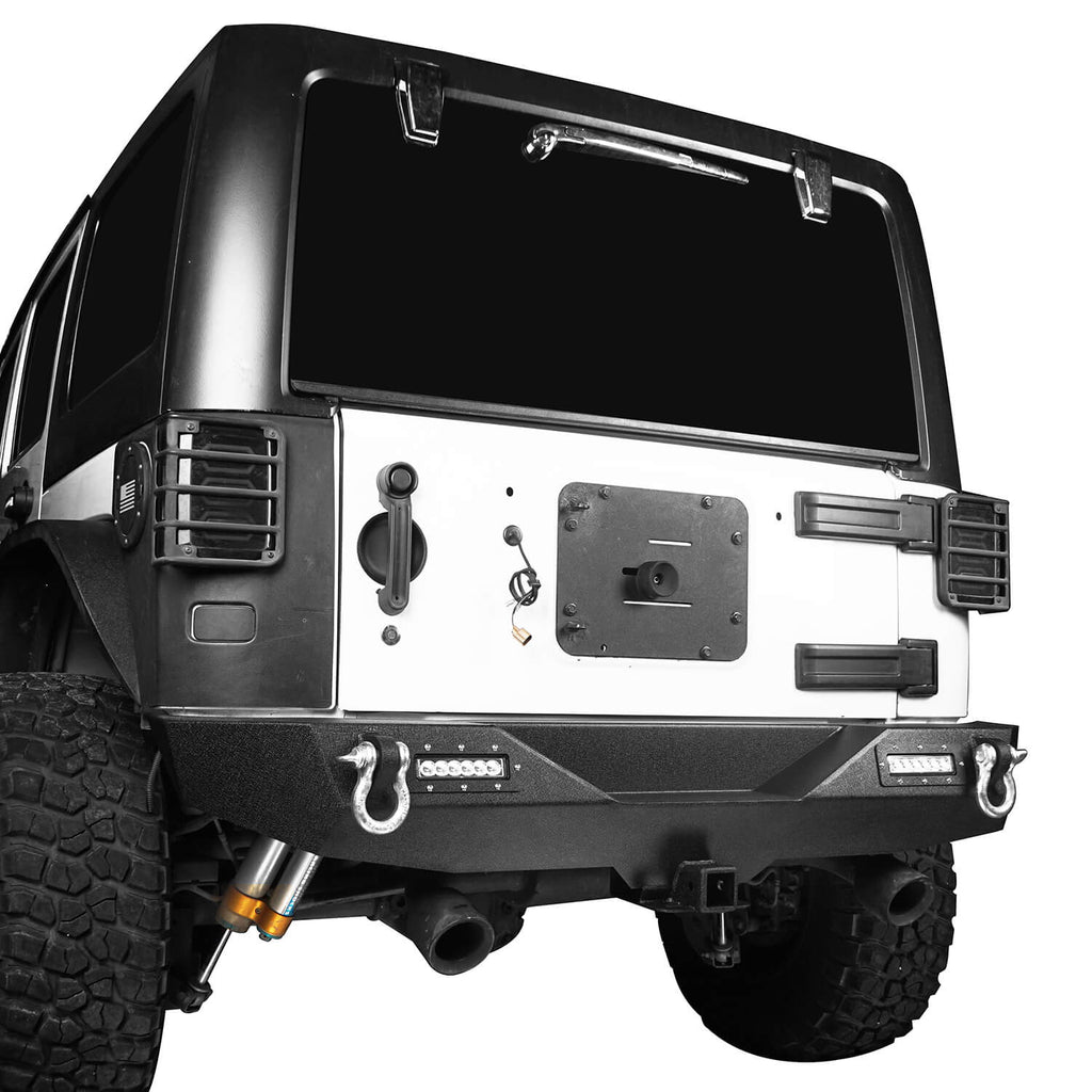 Opar Climber Front Bumper & Different Trail Rear Bumper Combo Kit for Jeep Wrangler JK JKU 2007-2018 u-Box Offroad 8