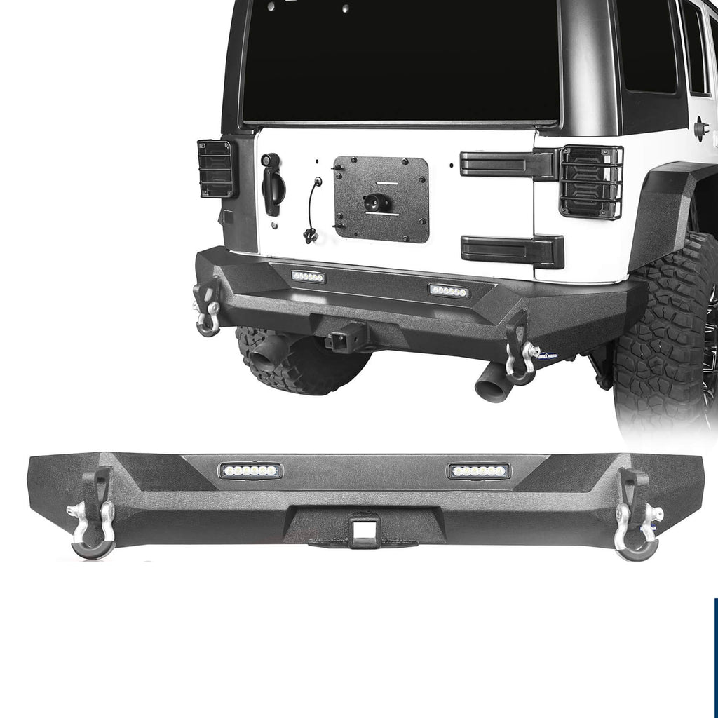Climber Rear Bumper w/Hitch Receiver(07-18 Jeep Wrangler JK JKU)