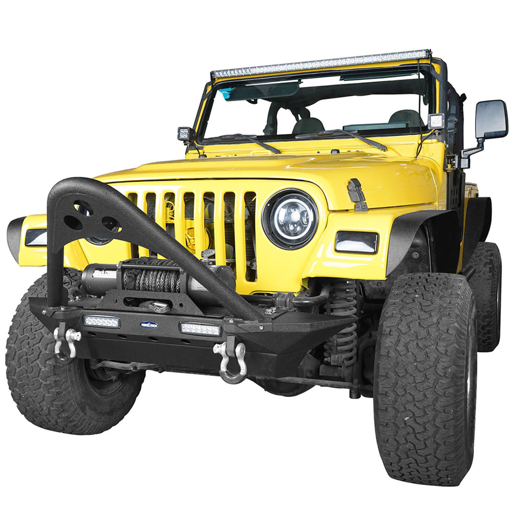 Stinger Front Bumper w/Winch Plate(87-06 Jeep Wrangler YJ &TJ)