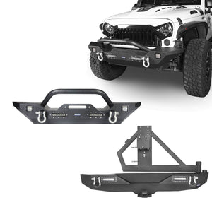 Different Trail Mid Front Bumper & Rear Bumper Combo(07-18 Jeep Wrangler JK)