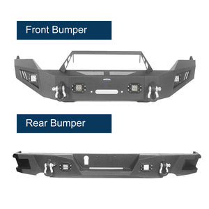Dodge Ram Full Width Front Bumper & Rear Bumper(13-18 Dodge Ram,Excluding Rebel)