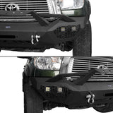 Front Bumper w/Hoop & Rear Bumper & Roof Rack w/Lights(07-13 Toyota Tundra)