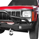 Full Width Front Bumper w/2 ¡Á18W LED Spotlights for 1984-2001 Jeep Cherokee XJ bxg320 5