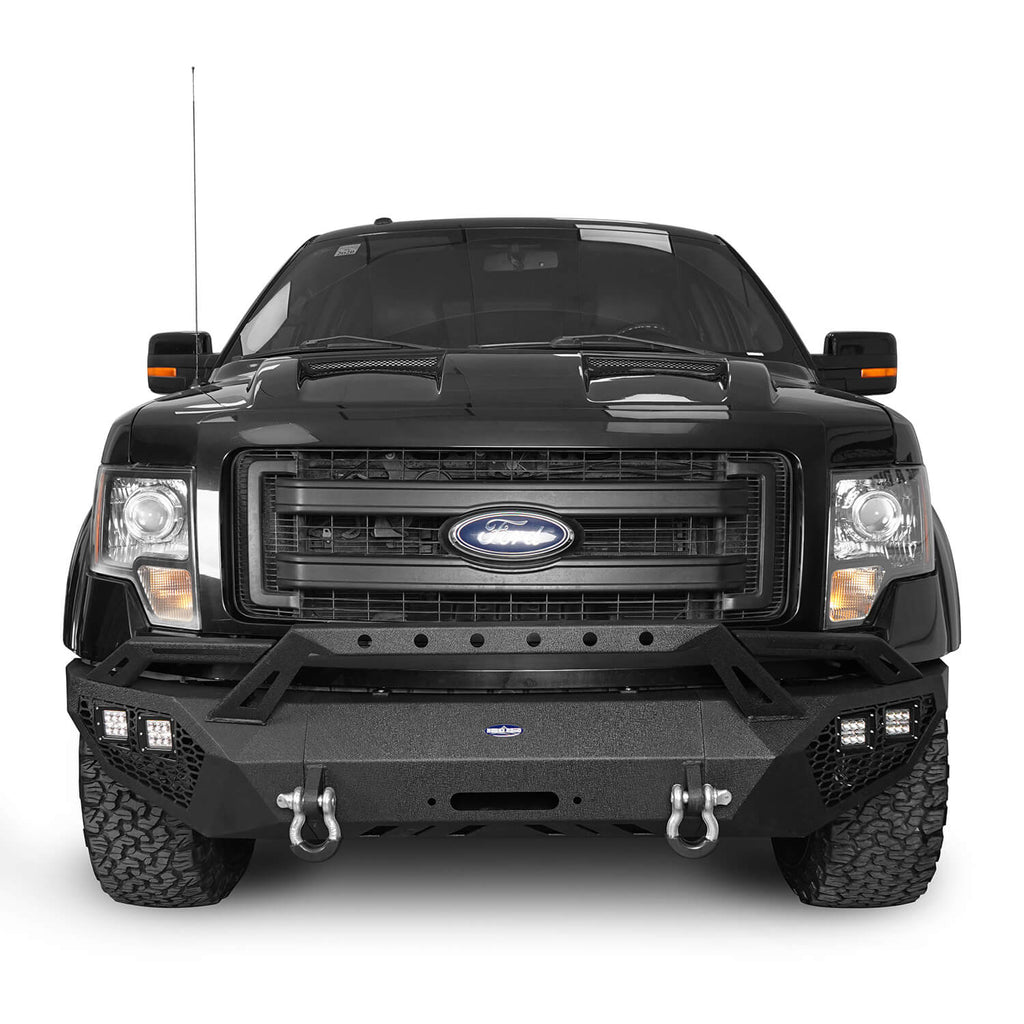 Full Width Front Bumper & Rear Bumper & Roof Rack(09-14 Ford F-150, Excluding Raptor)