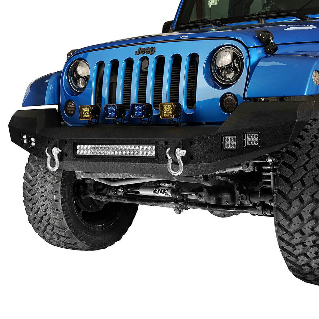Full width Front Bumper & Rear Bumper w/Tire Carrier(07-18 Jeep Wrangler JK)
